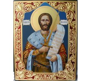 Писаная икона Святой Александр Невский (ВЧ-04)