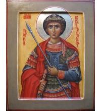 Писаная икона Святой Георгий Победоносец (ИФ-02)