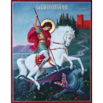 Писаная икона святой Георгий Победоносец (Ир-41)