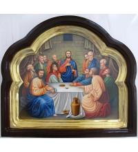 Писаная икона в киоте Тайная вечеря (Гр-90)