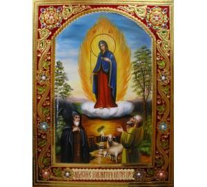 Ікона писана Явлення Пресвятої Богородиці на Горі Почаївській (Гр-07)