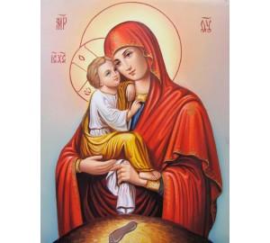 Почаевская Богородица - восхитительная писаная икона (Гр-03)