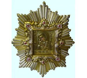 Почаевская икона Божьей Матери, спускная - копия чудотворной иконы (AL-01)