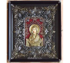 Покрова - Ексклюзивна ікона з сріблом (Ос-П13)