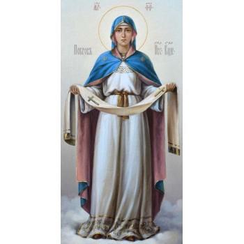 Покрова Пресвятой Богородицы - писаная икона (сч-12)