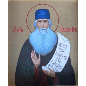 Преподобний Максим Грек - ікона писана (хм-21)