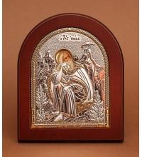 Пророк Илия - Икона из Греции с серебром и позолотой (GOLD)