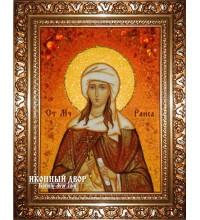 Раиса - именная икона из янтаря (ар-211)