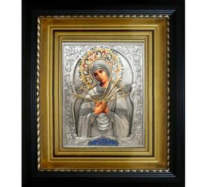 Семистрельная икона Божьей Матери - икона с серебром (k-11)