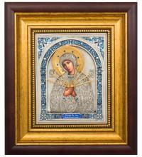 Семистрельная икона - красивая икона с серебром (k-10)