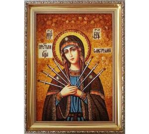 Семистрельная икона Пресвятой Богородицы - икона ручной работы (ар-158)