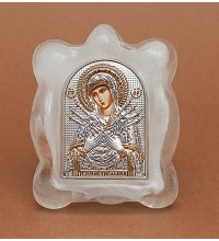 Семистрельная икона Пресвятой Богородицы - Икона в муранском стекле, серебро 925°, позолота (EK1MAG Семистрельная)