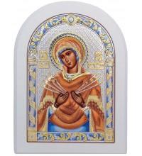 Семистрельная икона Пресвятой Богородицы - красивая греческая икона (152-CW)