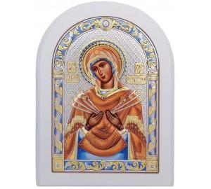 Семистрільна ікона Пресвятої Богородиці - красива грецька ікона (152-CW)