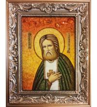 Серафим Саровский - икона из янтаря (ар-152)