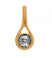 Серебряная иконка, образок святая Ксения Петербургская (S-10)