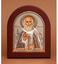 Сергий Радонежский - Икона из Греции с серебром и позолотой (GOLD)
