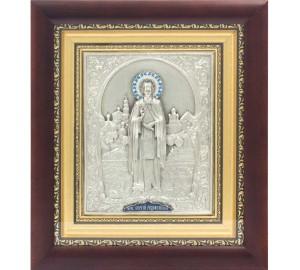 Сергий Радонежский - икона с серебром (ЮЛ-12)