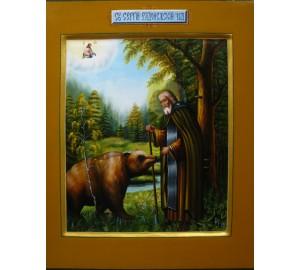 Сергий Радонежский -  Красочная икона, писанная с вдохновением (Гр-05)