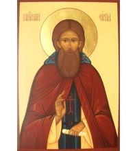 Сергий Радонежский - писаная икона (Гр-64)