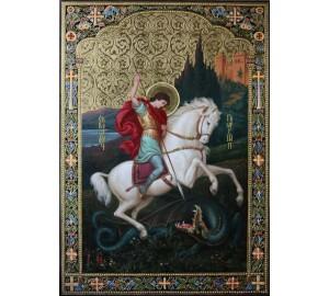Шикарная писаная икона Георгий Победоносец (Ир-25)