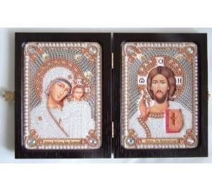Складення дорожній з бісером Казанська Божа Матір і Господь Вседержитель (нb-01)