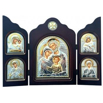 Складень Святое Семейство - складень с греческими иконами (ск-hf5)
