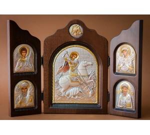 Складень Святой Георгий Победоносец - незаменимый подарочный вариант (ск-ge5)