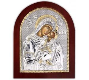 Сладкое Лобзание - Икона арочной формы с серебром и позолотой (GOLD)