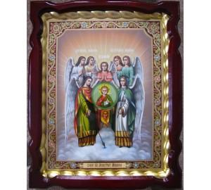 Собор Архангела Михаила - Бесподобная писаная икона в шикарном киоте (Гр-31)