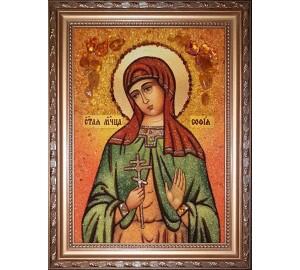 София - Именная икона из янтаря (бурштину) ручной работы (София )