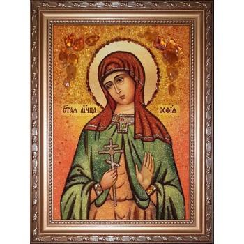 Софія - Іменна ікона з янтаря (бурштину) ручної роботи (Софія )