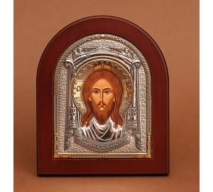 Спас Нерукотворный - Красивая Икона из Греции с серебром (GOLD)