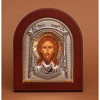 Спас Нерукотворний - Красива Ікона з Греції з сріблом (GOLD)