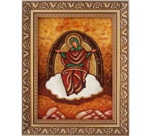 Спорительница хлебов - Икона Божьей Матери, янтарь (ар-151)