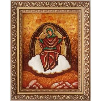 Спорительниця хлібів - Ікона Божої Матері, бурштин (ар-151)
