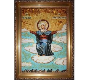 Спорительница хлебов - янтарная икона (ар-156)