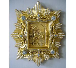 Спускная икона Почаевской Божьей Матери- копия чудотворной иконы (AL-02)