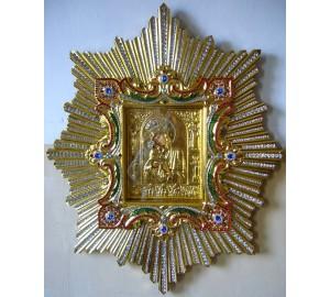 Спускная праздничная икона Почаевской Богородицы- точная копия чудотворной иконы (AL-03)