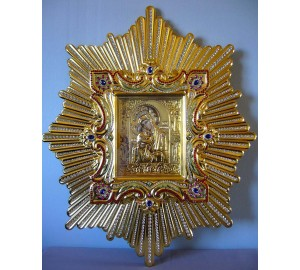 Спускная праздничная икона Почаевской Богородицы - точная копия чудотворной иконы (AL-05)