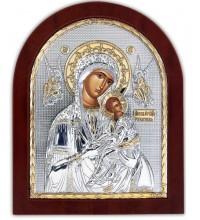 Страсна Ікона Божої Матері, Ікона арочної форми з сріблом та позолотою (GOLD)