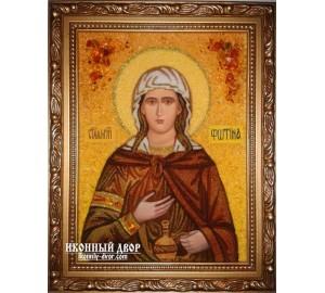 Светлана (Фотина Самаряныня, Фотиния) - икона из янтаря (ар-177)