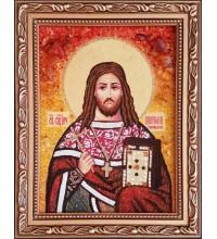 Священномученик Платон Горных - янтарная икона ручной работы (ар-374)