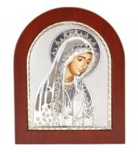 Святая Дева Мария - Греческая икона с серебром и позолотой (GOLD)