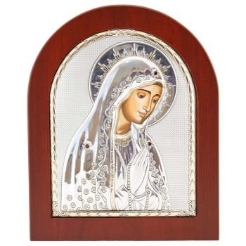 Свята Діва Марія - Грецька ікона з сріблом та позолотою (GOLD)