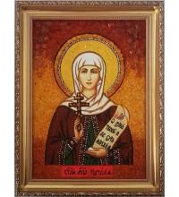 Святая мученица Наталия - икона из янтаря (ар-92)