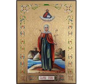 Святая мученица Татиана (Татьяна) - писаная икона (ВЧ-15)