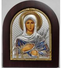 Святая мученица Татьяна - именная икона, с серебром (ep303-167xag)