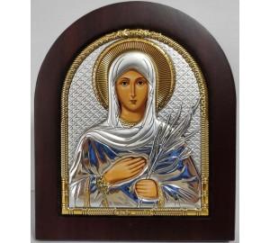 Свята мучениця Тетяна - іменна ікона, з сріблом (ep303-167xag)