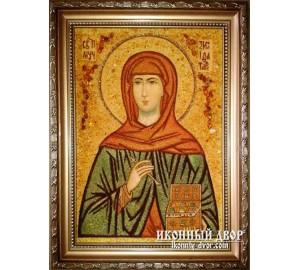 Святая мученица Зинаида - Качественная именная икона из янтаря (ар-43)